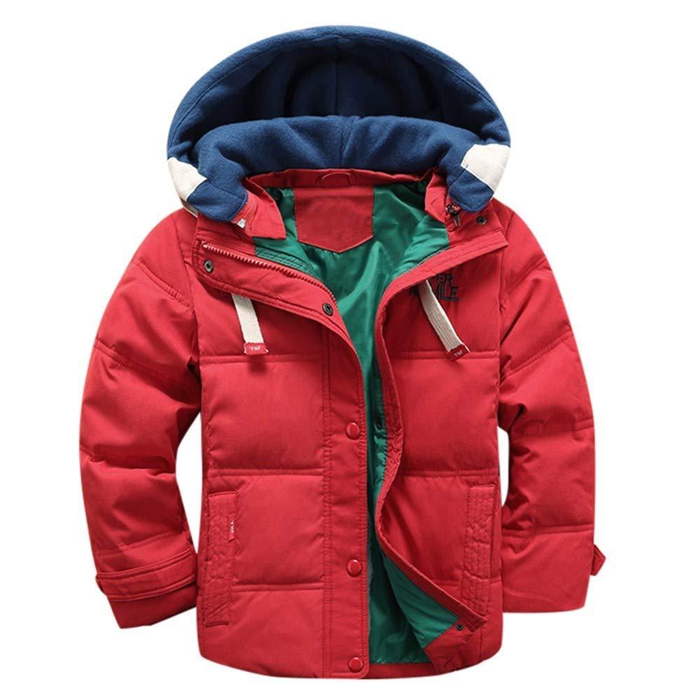 Blouson Garçon Fille - Manteau épais Chaud Enfant Doudoune à Capuche - Veste à Manches Longues Vêtement BaZhaHei