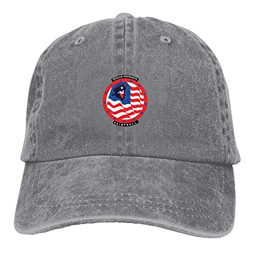 Adult Cropped Rogue Patriots Logo Sports Adjustable Structured Baseball Cowboy Hat
