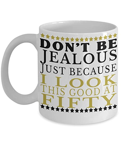 Amazon GIFTS FOR MEN 50TH BIRTHDAY COFFEE MUG With Quote