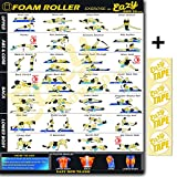 Eazy How To Foam Roller Banner Poster Exercise Workout BIG 28 X 20'' Relax, Stretch, Heal Muscle Therapy Home Gym Chart