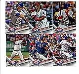 2017 Topps Texas Rangers Complete Master Team Set of 30 Cards (Series 1, 2, Update) with Keone Kela(#22), Nomar Mazara(#233), Joey Gallo(#237), Adrian Beltre(#280), Elvis Andrus(#284), Shin-Soo Choo(#290), Carlos Beltran(#315), Mitch Moreland(#317), Jonathan Lucroy(#346), Jurickson Profar(#367), Carlos Gomez(#427), Texas Rangers(#430), Jeremy Jeffress(#514), James Loney(#524), Martin Perez(#545), HEART OF TEXAS(#566), Matt Bush(#591), Sam Dyson(#620), Ryan Rua(#637), plus more