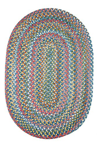 Rugs Small Oval (Chelsea Rug, 2 ft by 3-feet, Sapphire)