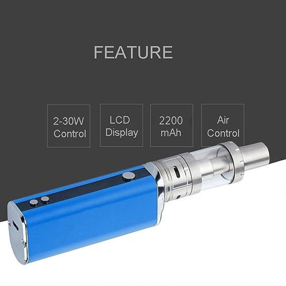 Cigarrillo Electrónico, 30W Función de Relleno a Tope Atomizer 0.5ohm,Kit de E-Cigarrillo, Sin Nicotina y Sin E-líquido (Azul): Amazon.es: Salud y cuidado ...