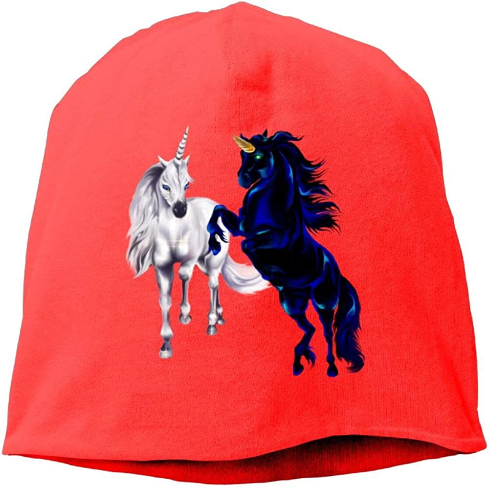 Two Unicorn Cool Beanie Cap Skull Hats Male