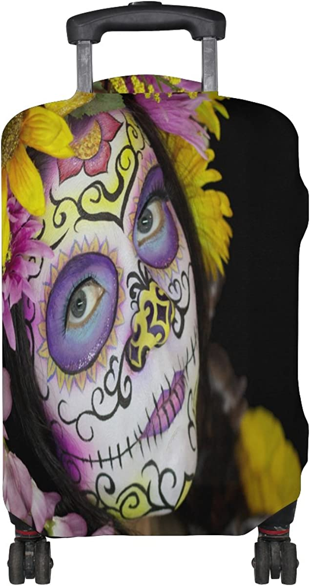 LAVOVO Sugar Skull Girl Luggage Cover Suitcase Protector Carry On Covers