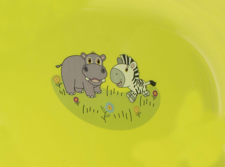 Ergonomische Baby Badewanne gr/ün ca BIECO 11002015 mit Zoo Motiv ab 0 bis etwa 36 Monate 84 x 49 x 30 cm
