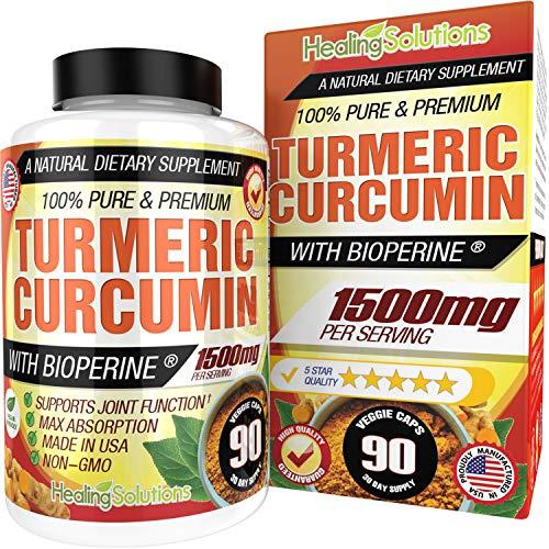 Turmeric Curcumin with Bioperine 1500mg (90 Capsules)