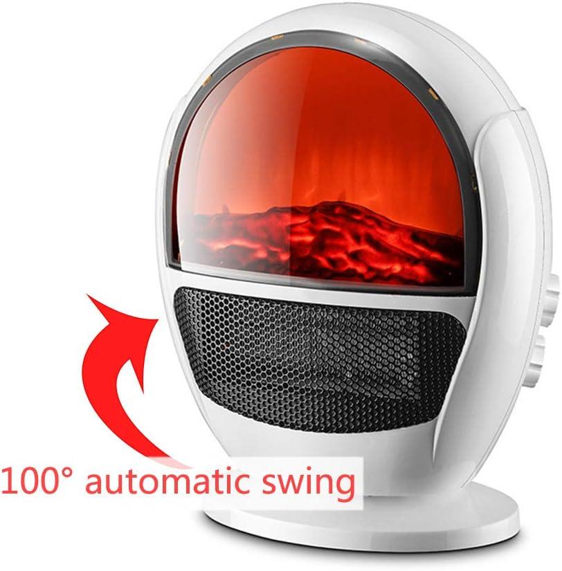 Calentador 3D Simulación De Llama 1500W Calentador Eléctrico Hogar Tres Velocidades Calefacción Eléctrica Estufa Protección contra Sobrecalentamiento Eficiencia Energética, Calentamiento Rápido, Ade