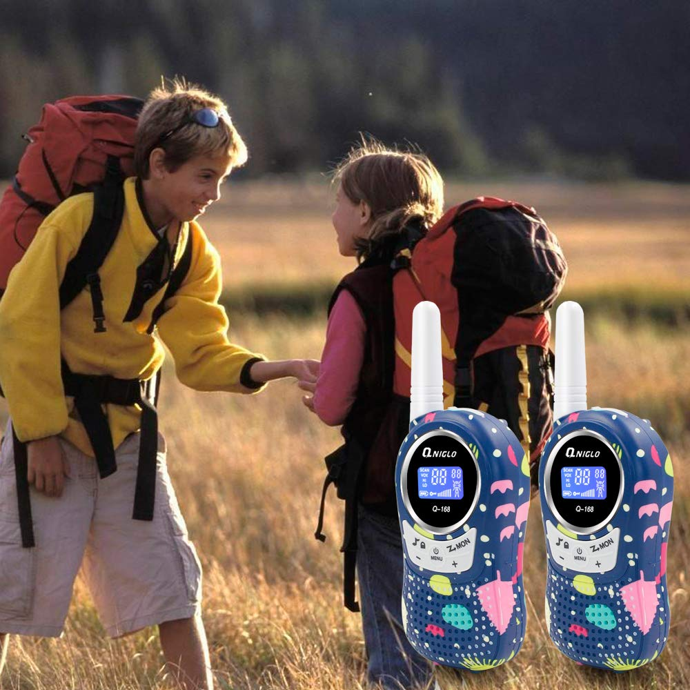 Qniglo Walkie Talkies Kids Adults 22 Channel Long Range 2 Way Radio Rechargeable Walkie Talkies(Blue,2 PCS) by Qniglo (Image #6)