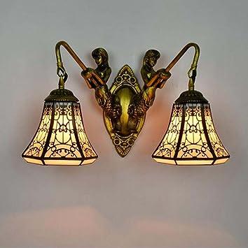Tiffany estilo aplica, europeo decorativo Vidriera Copper ...