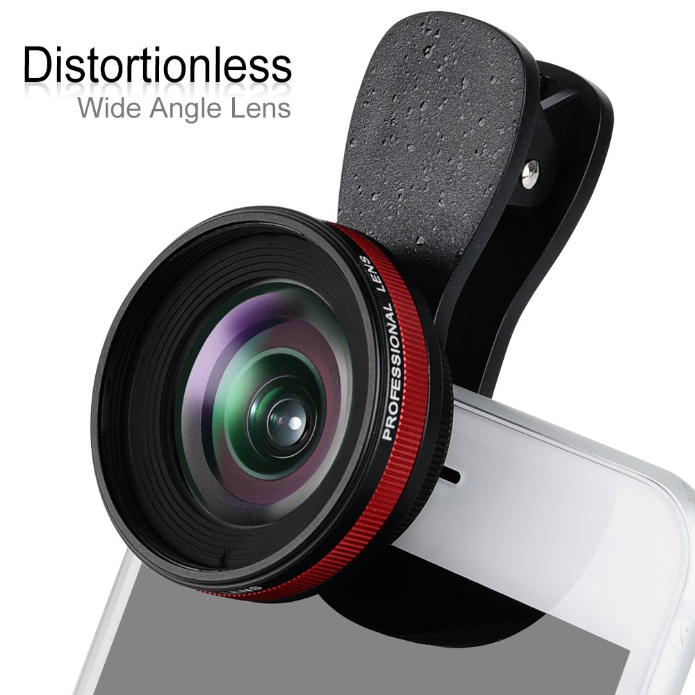 Professional 2in1 Mobile Phone Camera Lens with 0.6X Wide Angle Lens & 15X Macro Lens for Smartphones (LQ-033 Black)