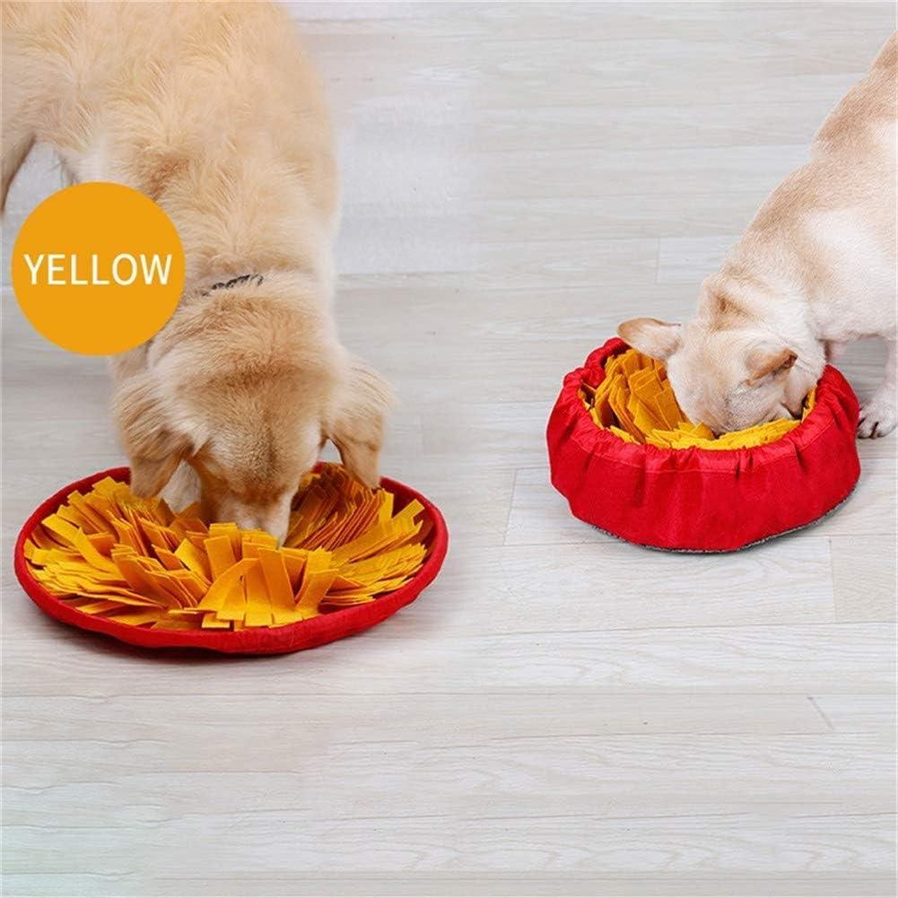 Hondenmat Hondenvoermat Hondensnuffelmat Huisdierensnuffelmat Snuffelmat voor puppy's Hondensnuffeldeken Voedermatten voor honden Honden Brain Games roze Yellow