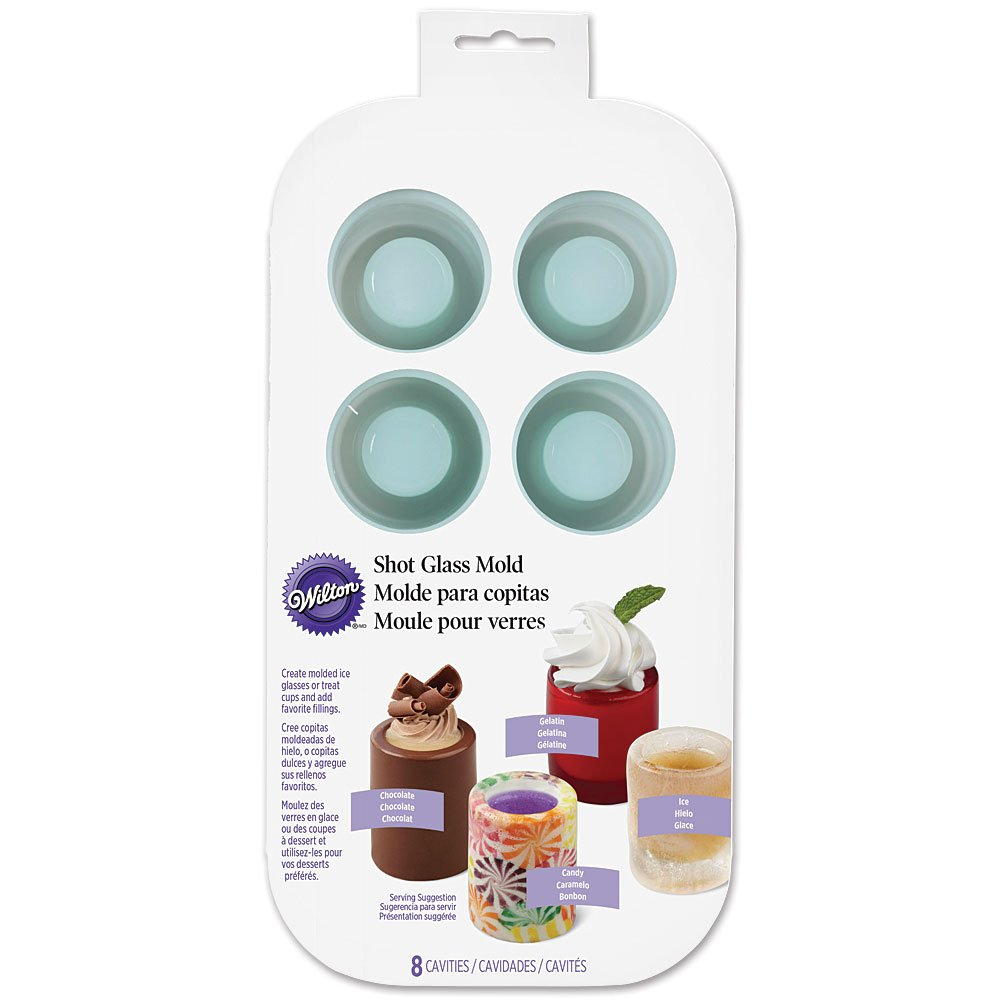 Amazon.com: NEW Wilton Shot Glass Drink And Dessert Silicone Mold - Ice Glasses Treat Cups: Kitchen & Dining