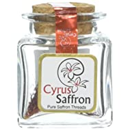 Saffron Threads,100% Pure Premium Quality Stigmas Only (0.8 Gram) / .0264 Oz [SUPER NEGIN] NON-GMO, organically grown