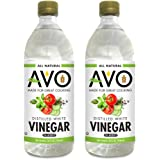 2-PK AVO Pure Natural Distilled White Vinegar – 5% Acidity For Cooking and Cleaning Purposes (2 bottles, 32oz each)