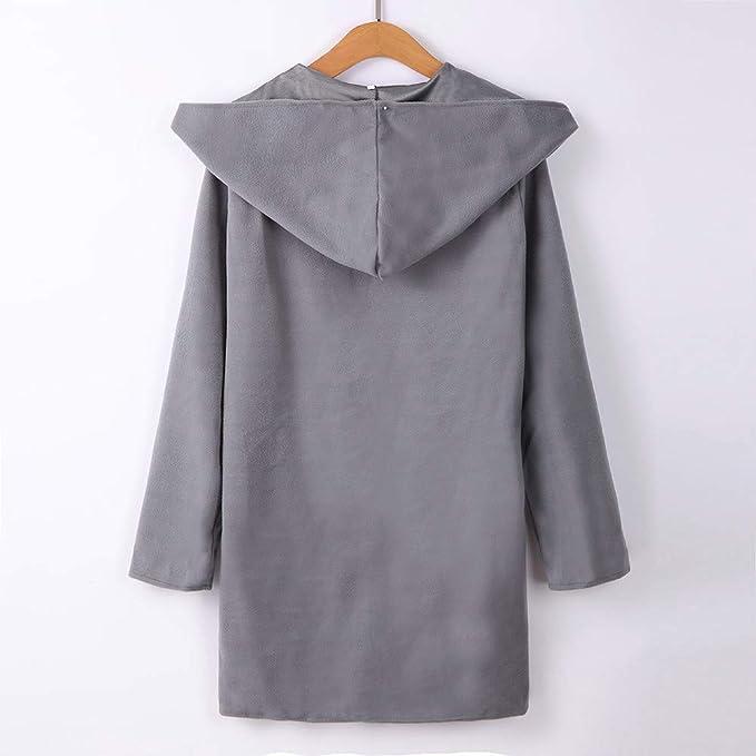 ZHRUI Womens Wool Hooded Thin Coat Suelta Casual Hoodies ...
