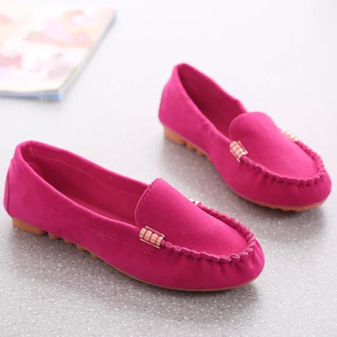 US:5.5 Fheaven Women Flats Shoes Slip On Comfort Shoes Flat Shoes Loafers RU//EU//CN:36 , Black