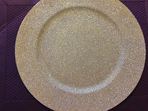Glittered Charger Plate (Champagne Gold)