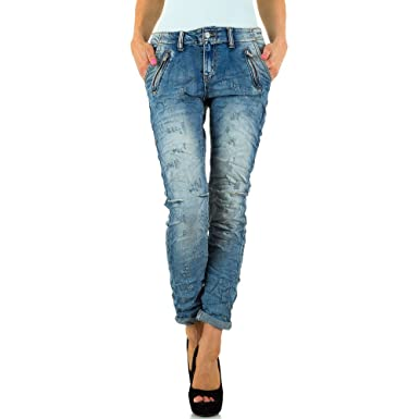 f3f3197527fa Schuhcity24 Damen Jeans Hose Jeanshose Damenjeans Destroyed Skinny Röhre  Röhrenjeans Bluejeans  Amazon.de  Bekleidung