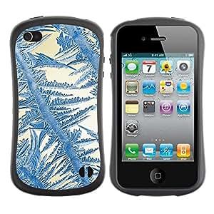 Suave TPU GEL Carcasa Funda Silicona Blando Estuche Caso de protección (para) Apple Iphone 4 / 4S / CECELL Phone case / / Crystal Sun Blue White Winter /