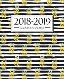 Agenda scolaire 2018-2019: 19x23cm : Agenda 2018 2019 semainier : Motif ananas 4268 (French Edition)