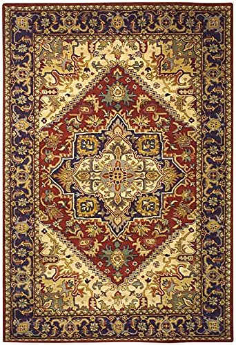 Safavieh Heritage Collection HG625A Handmade Traditional Oriental Red Wool Area Rug (4' x 6')