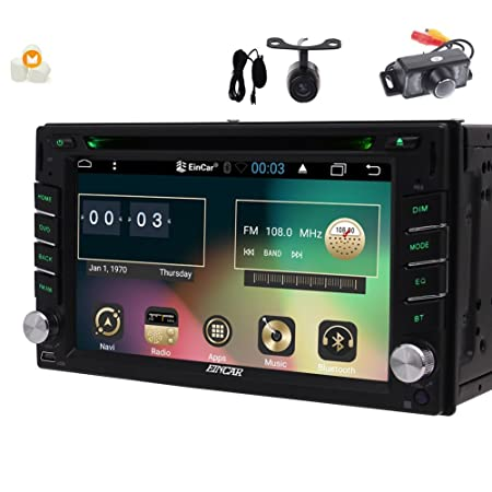 Android 6.0 6.2 inch Stereo with Double din GPS Navigation in Dash Capacitive Touchscreen Car DVD Player Support FM AM RDS Autoradio Bluetooth SWC USB SD Headunit Include Front Backup Camera