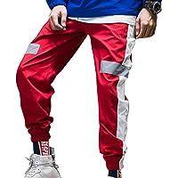 Hombre Pantalones De Chándal Sueltos Cremallera Color De