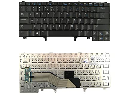 ACETRONIX Laptop Keyboard for Dell Latitude E5420 E5430 E5520 E6220 E6230 E6320 E6420 Replacement Keyboards