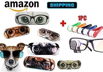 Amazon.es: Funda rígida original para gafas, gato o perro ...