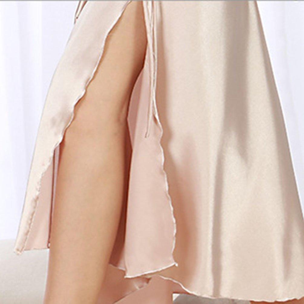 WanYang Camicie da Notte Slittamento Pigiameria e Robe di Raso delle Donne