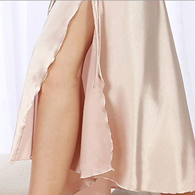WanYang Mujer Sin Mangas Pijama Camiseta De Escote En V Con Pantalones Cortos Slip Encaje Backless Ropa De Dormir Lencería: Amazon.es: Ropa y accesorios