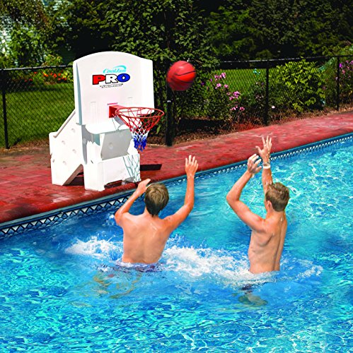 Cool Jam Pro Pool Basketball Goal Hoop Net | Includes 2 Basketballs | Adjustable Heights | Hard...
