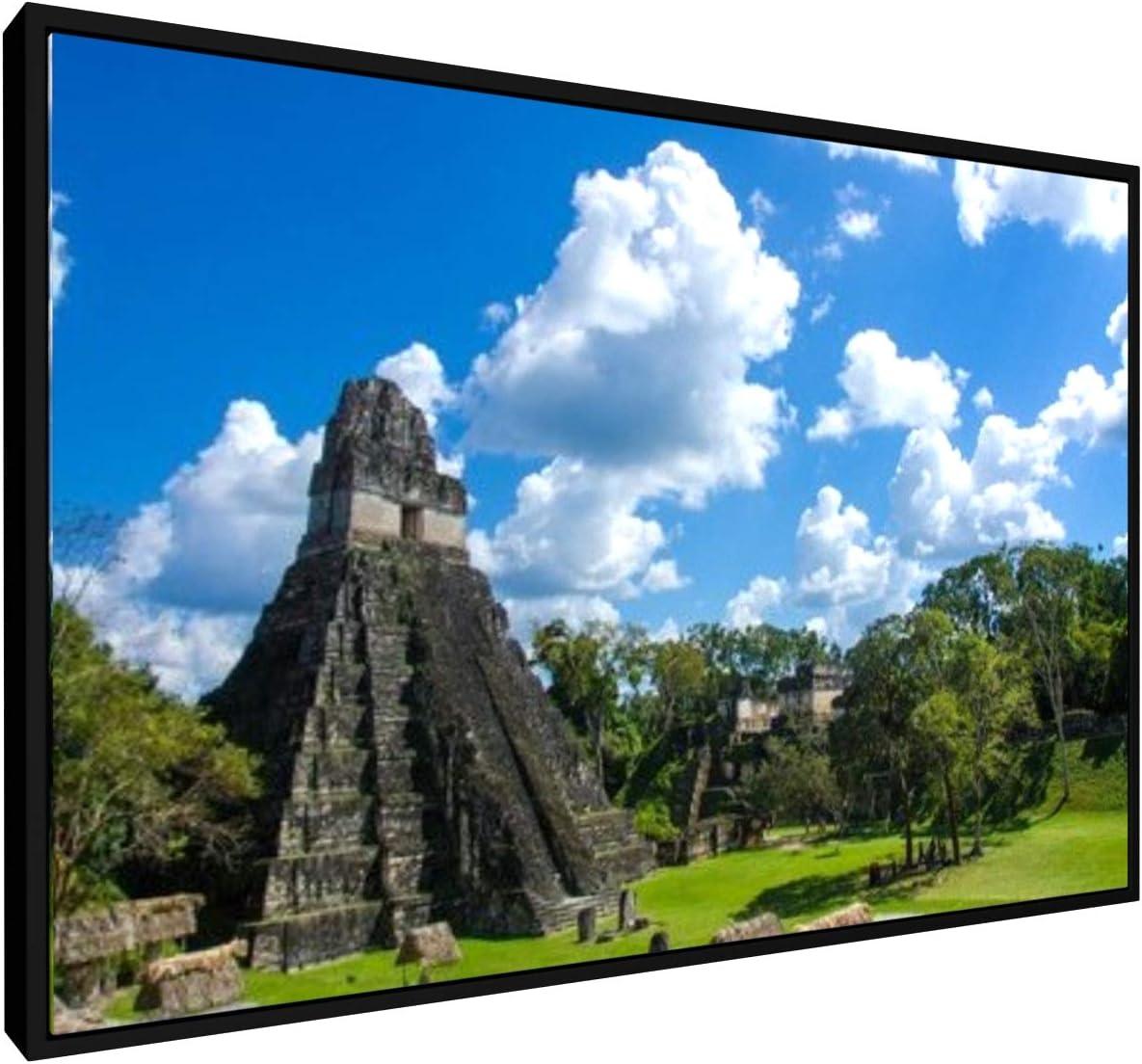 Art Mural 30x20 cm weewado Simon Dannhauer Ruines Maya dans la for/êt Tropicale du Guatemala Tikal Prime Impression sur Toile Villes Et Voyage