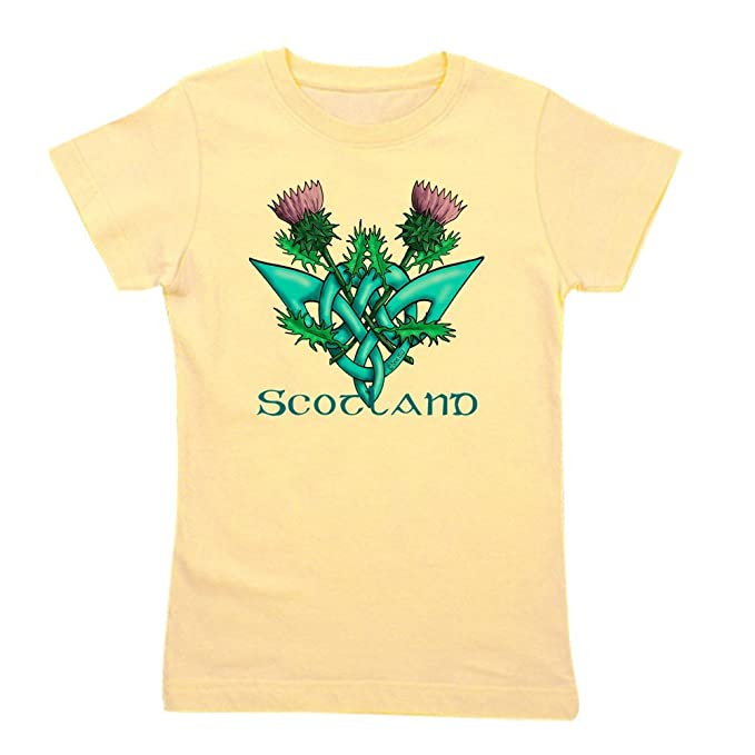 4e416eb7 CafePress - Thistles Scotland - Girl's Cotton T-Shirt, Cute Slim Fit Girl's  Shirt