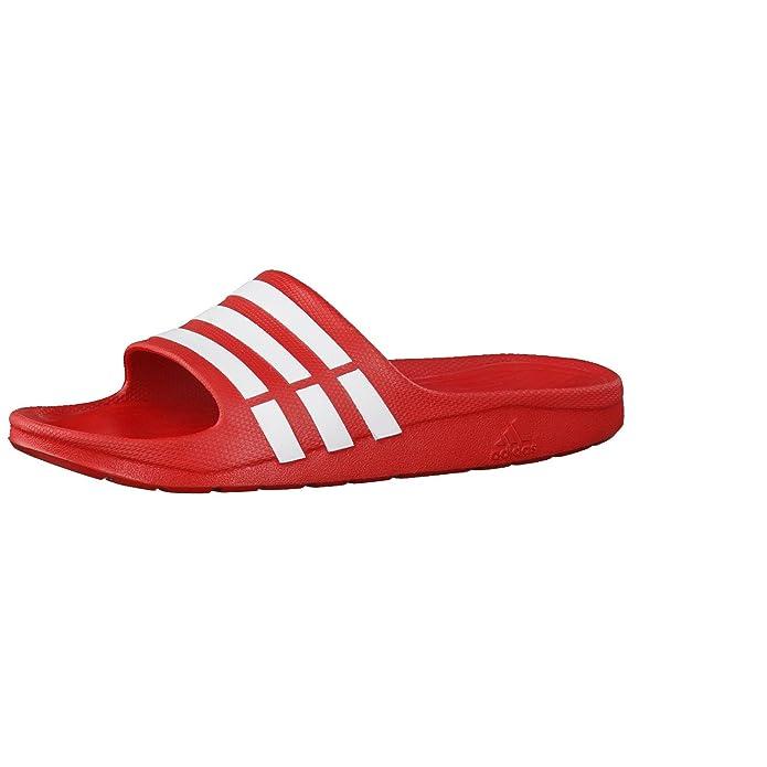 Adiletten Rot Rote Adiletten Damen Herren adidas Duramo Slide Unisex Dusch-& Badeschuhe