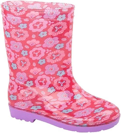 GIRLS INFANTS KIDS CHILDRENS WELLIES WELLINGTON SNOW RAIN WATERPROOF BOOTS SIZE