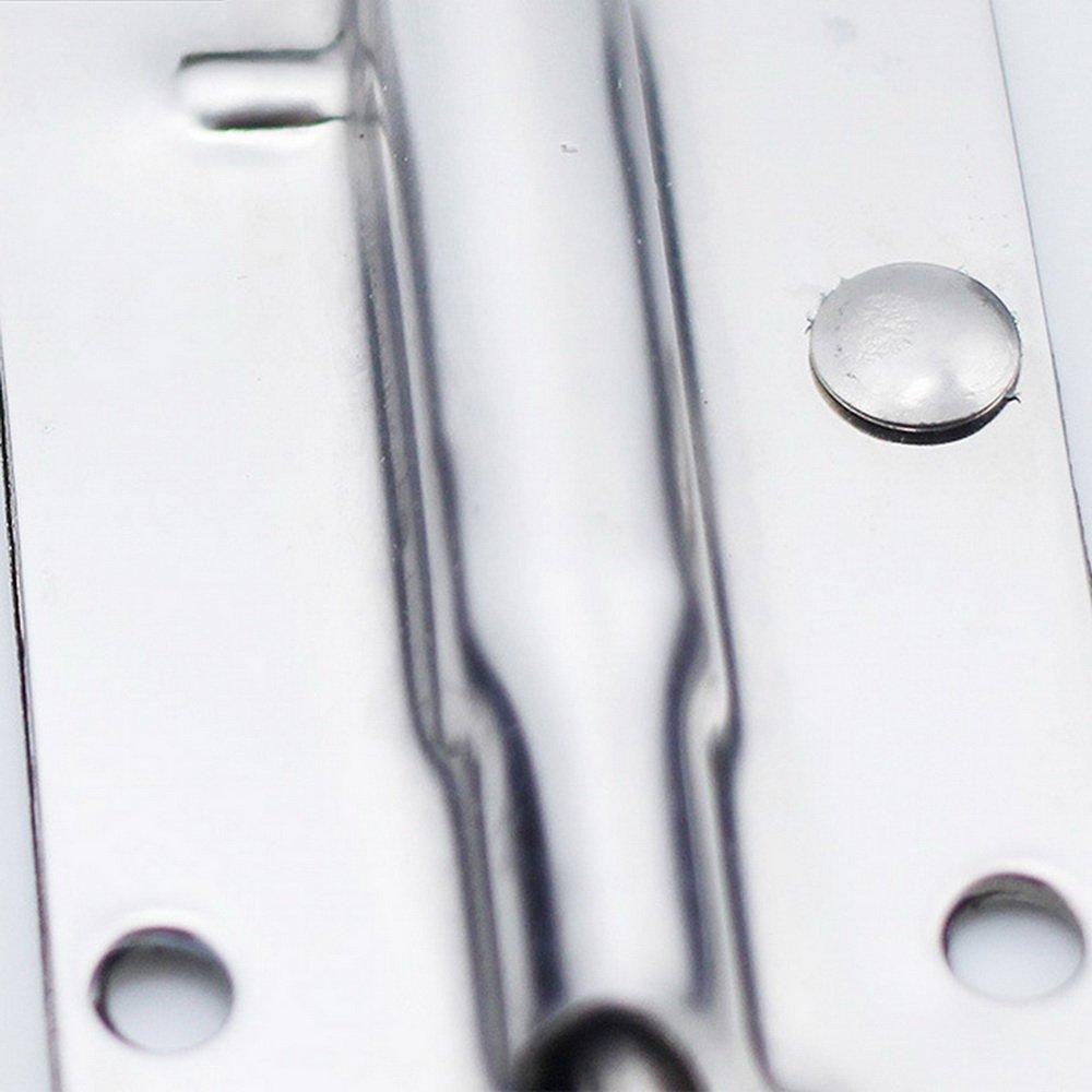 Godagoda Kistengriff Feder Klappbar Klappgriff Edelstahl Hardware Boxen Griff silber Farbe und Schwarz 2 pcs 140mmx40mm
