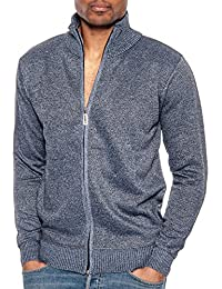 Men's Long Sleeve Soft Casual Full Front Zip Cardigan Sweater