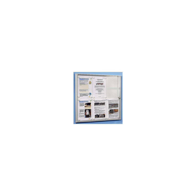 fond m/étallique panneau daffichage pr/ésentation vitrine daffichage vitrine murale vitrine pour affiches vitrines daffichage vitrines pour aff 9 feuilles A4 h x l 963 x 711 mm OFFICE AKKTIV Vitrine daffichage pour lint/érieur