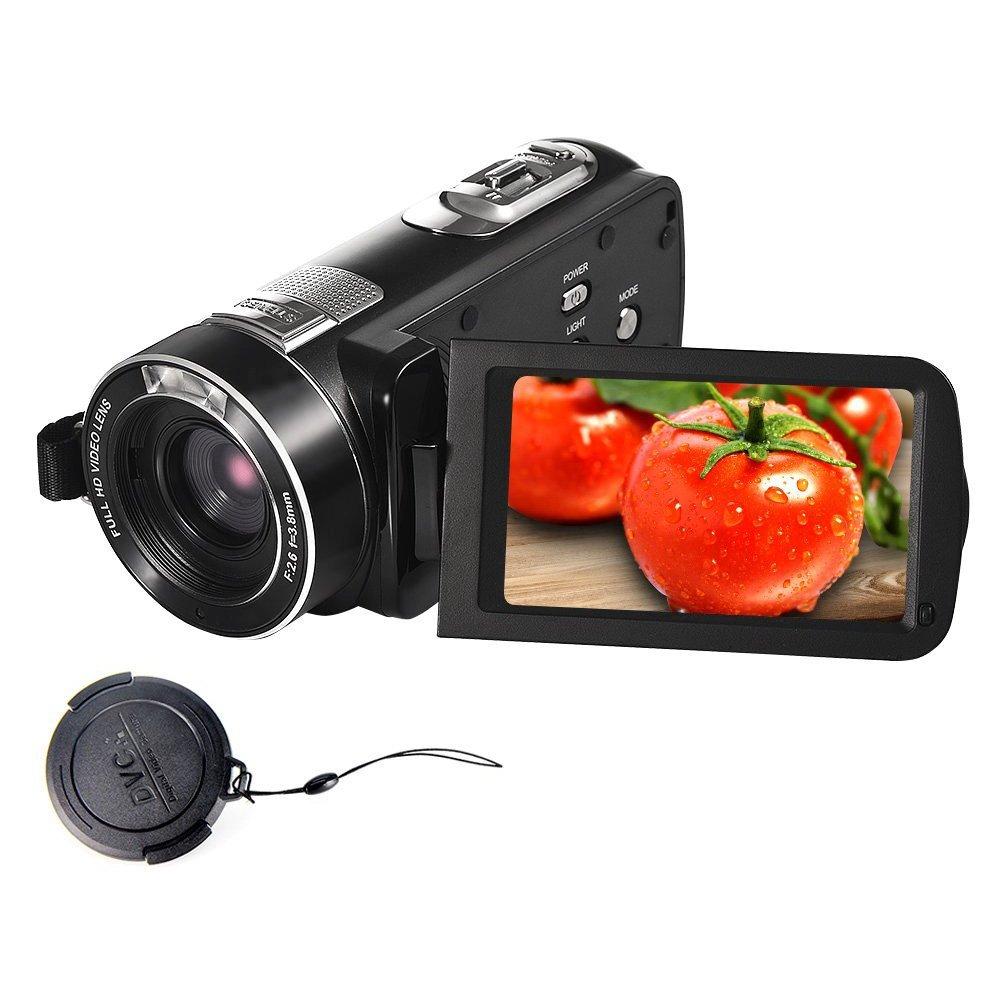 SEREE Camcorder FHD 1080P 24.0 MP Digital Camera HDMI Cable Included 18× Digital Zoom Handheld Portable Video Recording (HDV-Z8-FBA)