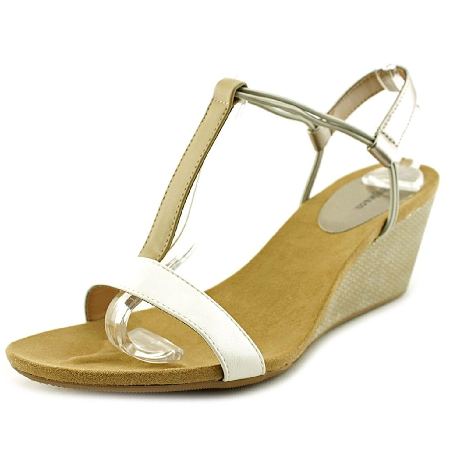 Style & Co... Womens Mulan Open Toe Casual, White/French Vanilla/Beige, Size 9.5
