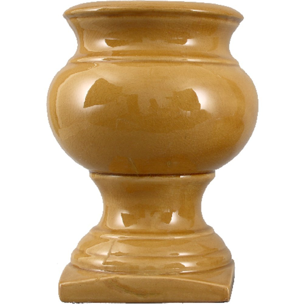 Home decor. French Yellow Garden Vase. Dimension: 12 x 12 x 16. Pattern: French Yellow Majolica.