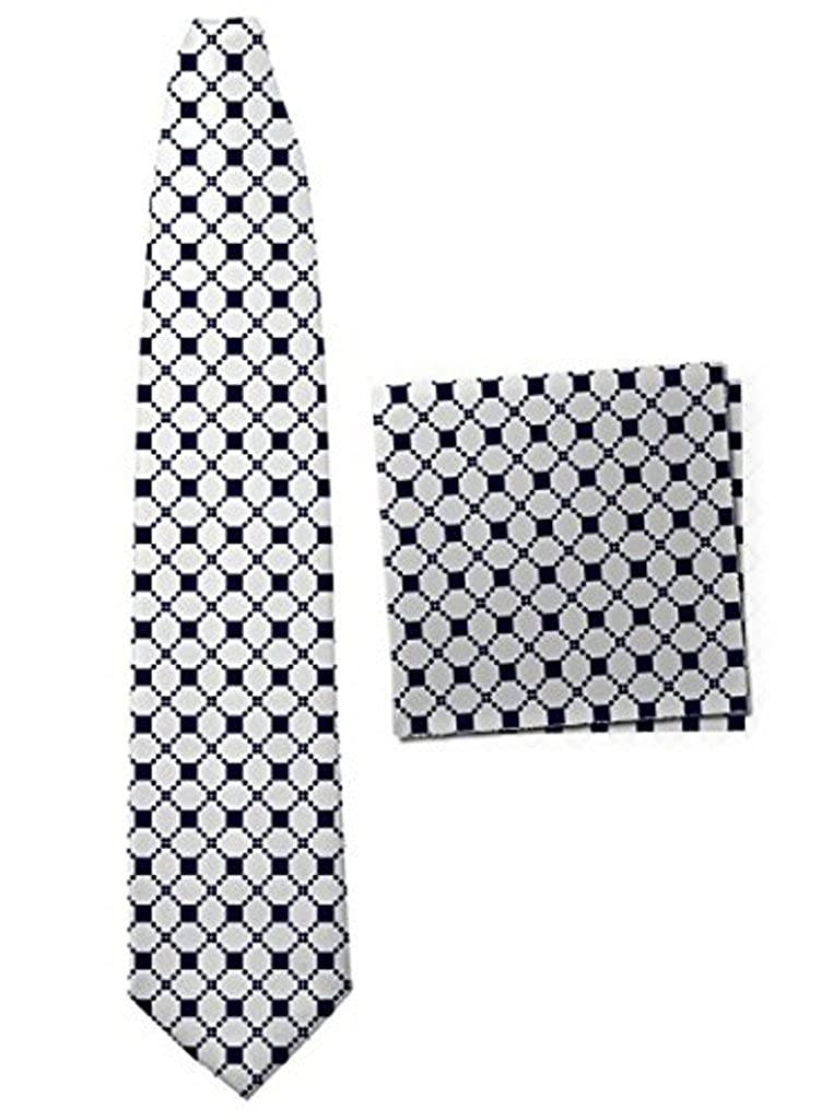 Classic-Tuxedo Soft Rhombus Neck Tie with Matching Pocket Square for Men