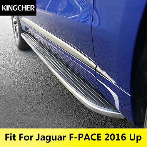 Running Boards For Jaguar F-Pace 2016 2017 2018 fpace Door Side Step Nurf Bar by Kingcher