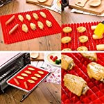 "Wolecok Wolecok Silicone Baking Mat, Cooking Pan Oven Tray Baking Sheet Pastry Cooking Mat 2 Pack 11 Material:100% Food Grade pure Silicone (no plastic fillers), BPA free, non-toxic . Temperature tolerance:-40℃ to 230℃(-40℉ to446℉) Dimensions: 16"" x 11.5"" , and It can be cut to a Specific Size"