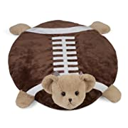 Bearington Tuchdown Football Teddy Bear Belly Blanket, Baby Mat, Tummy Time Mat 30  x 30