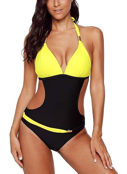 süß Top Marken großes Sortiment FIYOTE Damen Badeanzug Bunt Bademode Sexy Tankini One Piece ...