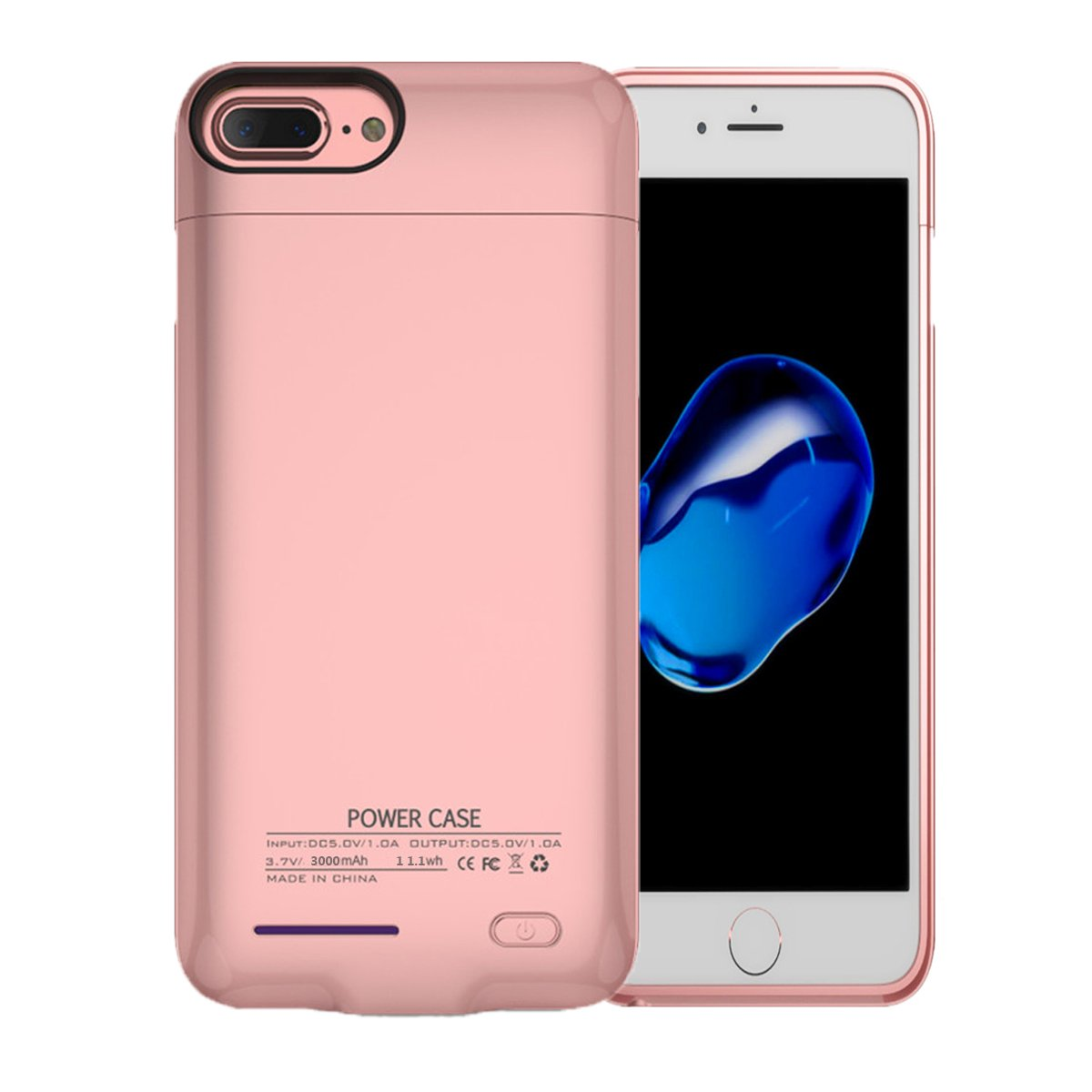 AITOO iPhone 7 Battery Case Slim - iPhone 8/7 Charger Case 3000mAh Magnetic Battery Cases Slim Rechargeable External Battery Pack iPhone 8/7/6s/6 - [Rose Gold]