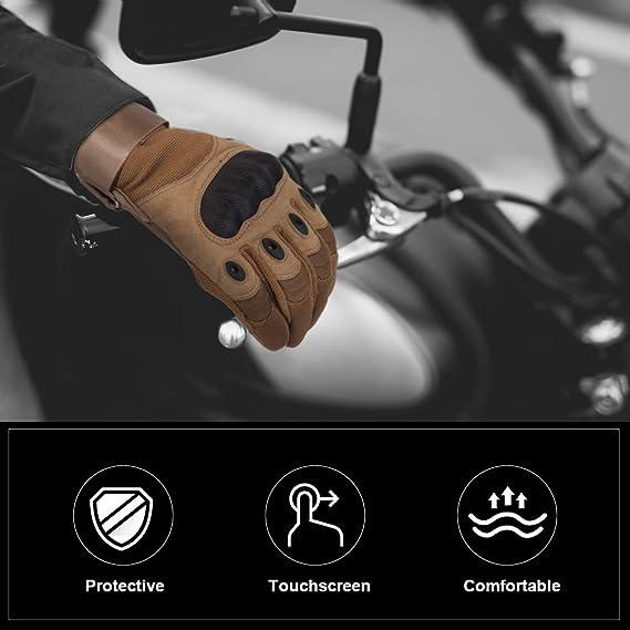 Skysper Motorradhandschuhe Vollfinger Touchscreen Motorradhandschuh Herren Und Damen Outdoor Sport Taktische Handschuhe Kampfklettern Camping Jagd Radfahren Sport Freizeit